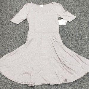 Lularoe soild heathered gray Nicole dress large